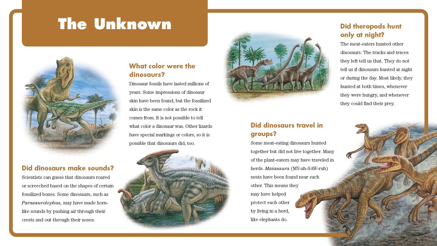 Q&A Dinosaurs Interior spread