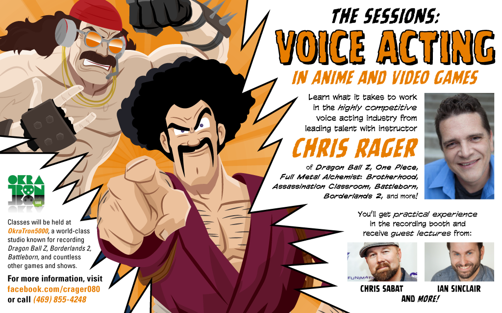 The Sessions voice acting class flyer