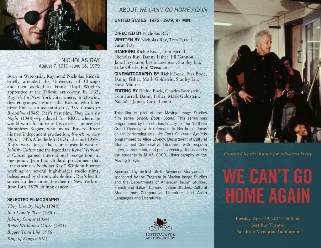 We Can't Go Home Again program